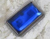 Victorian Brooch Blue Pin Beautiful P1874