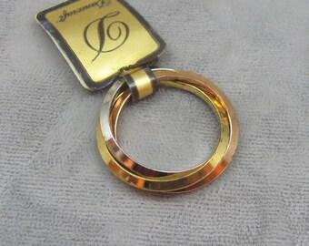 Vintage Sterling Ring Trinity Bands Danecraft  Size 6 RG116