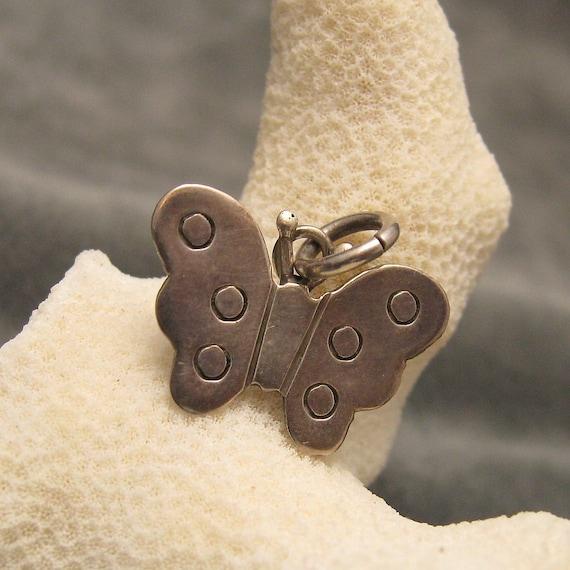 Vintage Sterling Butterfly Earrings Pendant Set S3537