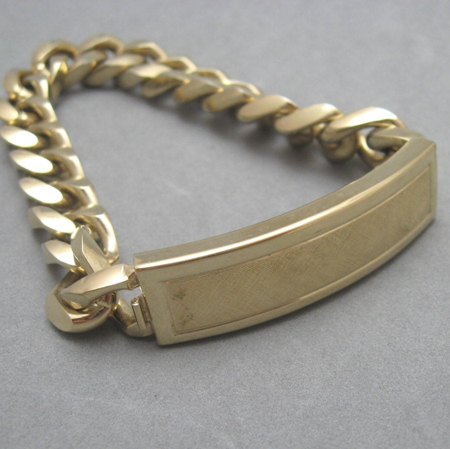 vintage men 39 s speidel i d bracelet original box b1304. Black Bedroom Furniture Sets. Home Design Ideas