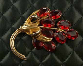 Beautiful Red Bouquet Brooch