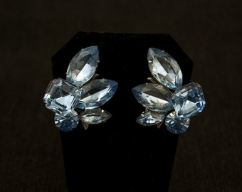 Fabulous Vintage Rhinestone Clip Earrings