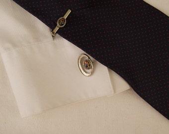 Vintage Cuff Link and Tie Bar Set