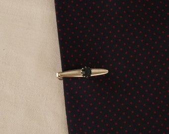 Vintage Swank Tie Bar with Blue Stone