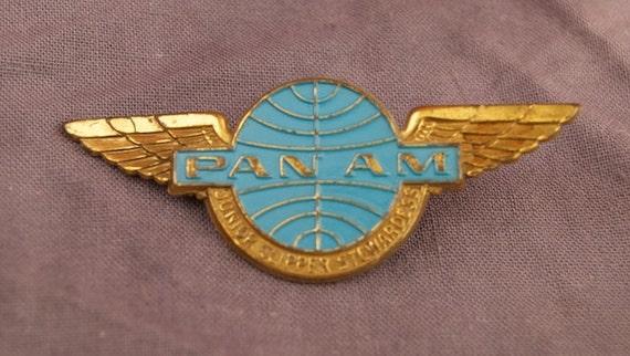 Vintage Pan Am Junior Clipper Stewardess Badge