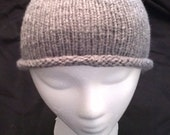Gray Hand Knit Toddler/Preschooler Hat