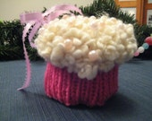 Pink and Cream Cupcake Ornament