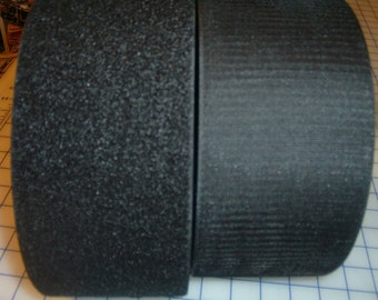 4 inch wide Generic Hook and Loop Fastener - BLACK - 3 foot section a full yard