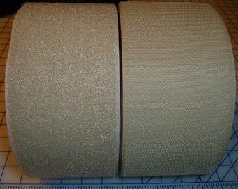 4 inch wide GenericHook and Loop Fastener - BEIGE 3 foot section 1 full yard