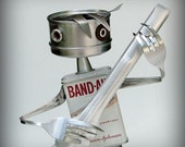 Guitar Man - recycled art sculpture - kitchen robot