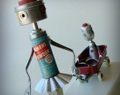 Precious Cargo - Robot fine art assemblage - ooak 99% recycled