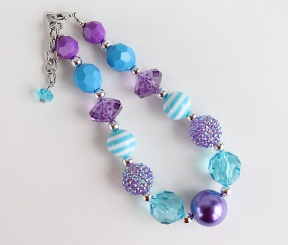 M2M Little Wellies Ariel outfit Chunky Necklace for girls