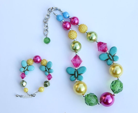 Custom order for marlomacom for 5 chunky necklaces & 5 matching bracelets