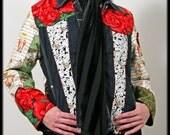 Alice In Wonderland Custom Patchwork Jacket Teen-Adult Size..DeepBlueC