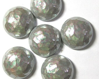 Vintage Silver AB Round Cabochons