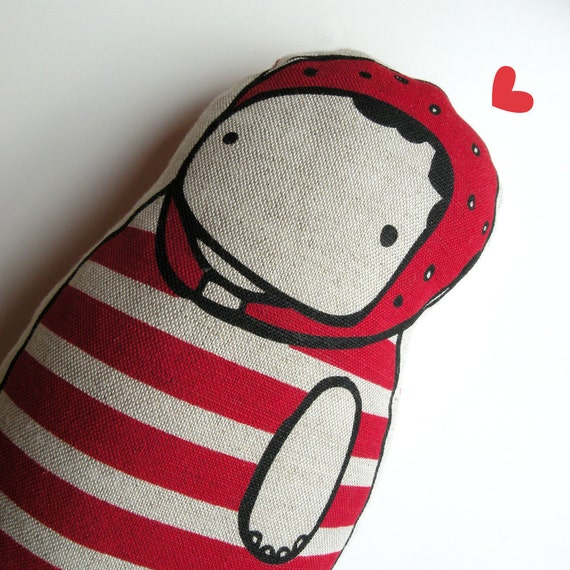 red swimmer doll/ small cushion