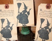Primitive Witch Halloween Tags