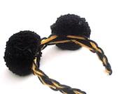 SALE Black pom pom Mickey ears headband