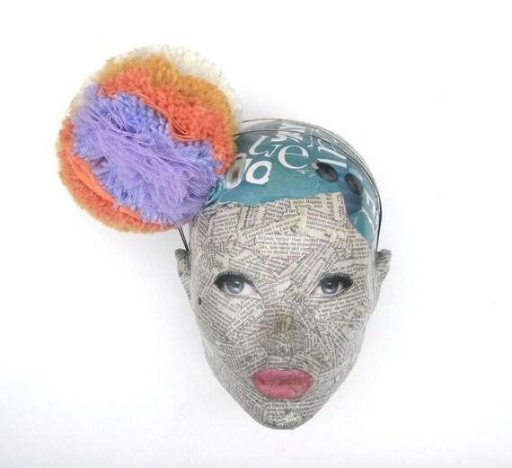 Giant Pastel Pom Pom headband
