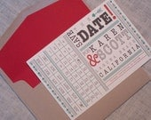 Wedding Save the Date - Karen Fresh and Quirky Punch Card -