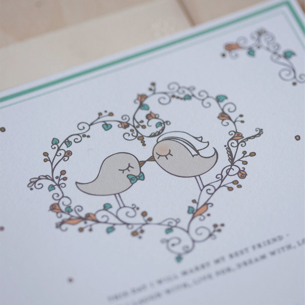 love bird wedding invitations invitation vintage kissing, Wedding invitations