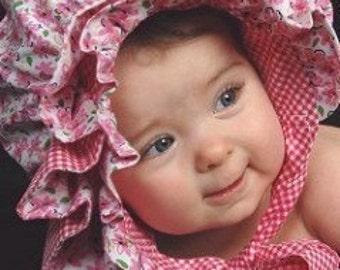 OOAK - Ruffled Baby Bonnet