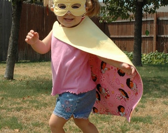 Super Hero Cape and Mask  - Personalized Just for You