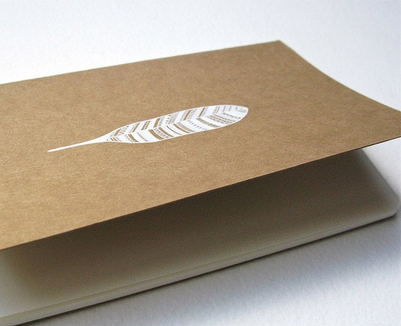 moleskine notebook with an original handpainted feather design // nature inspired art by natasha newton