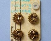 Golden Knots - vintage buttons