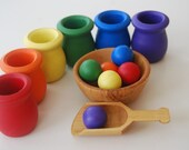 Sort and Scoop Game-Toddler-Rainbow