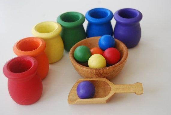 Sort and Scoop Game-Toddler and Up-Rainbow