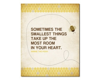 Smallest Things Bee - 8x10 Digital Art Printable 300dpi .JPG to Print On Your Own - Instant Download