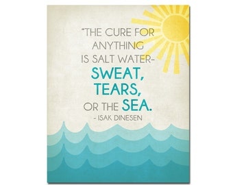 Salt Water Cure - 8x10 Digital Art Printable - 300dpi .JPG File to Print On Your Own - Instant Download