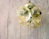 Citrine Pendant Yellow Gemstone Bouquet Necklace Gold Brass November Birthstone Sagittarius Gift for Mom Gift Box