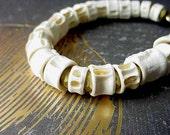 Bone Bracelet - Spine, Skeleton - Unisex - Halloween Bracelet - Fish Bone Spine Beads