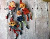 Santas Elves Christmas Kitsch Brooch Set Vintage Ornament Unusual Stocking Stuffer Gift Under 25 Unisex
