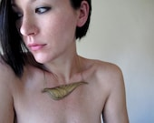 Wing Necklace Greek Hellenic Gold Brass Collar Icarus Statement Piece Sexy Gift for Her
