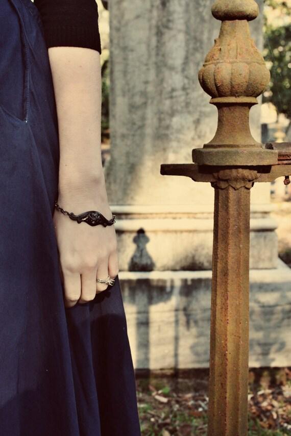 Vampire Bat Bracelet  Gothic Victorian Noir  Halloween  Wicked Fashion