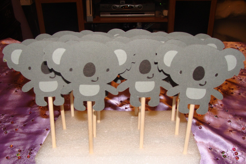 Cupcakes de Koala Koala Cupcake Toppers