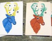 Reindeer Christmas Cards (Set of 4)