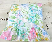 Vintage Light Weight Floral Pastel Bedspread Twin Coverlet