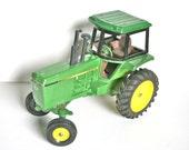 Vintage John Deere Tractor - ERTL Die Cast Metal Row-Crop Tractor - 1970's