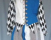 MADE TO ORDER Renaissance Jester Foole Costume - Men or Ladies - your size, color choice