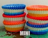 75 Mini Swirl Assorted Cupcake Liners