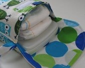 Diaper Wristlet in Robert Kaufman Blue Owls (see shop annc. for free shipping offer)