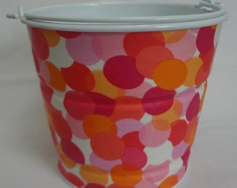 READY TO SHIP Galvanized storage pail size Medium in bubbled up