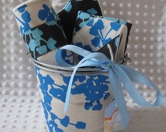 READY TO SHIP Spoiled Baby Gift Set in Amy Butler Pine and Ivory Coriander