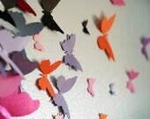 20 3D Butterfly Wall Art Circle Burst