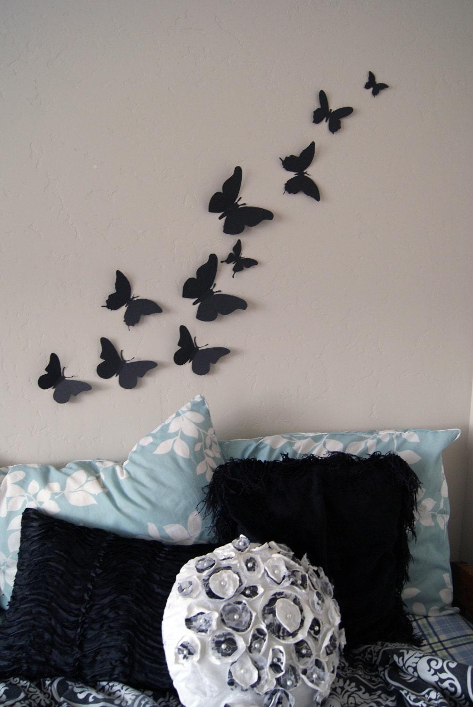 3d Wall Art Decor Butterflies : D butterfly wall art circle burst