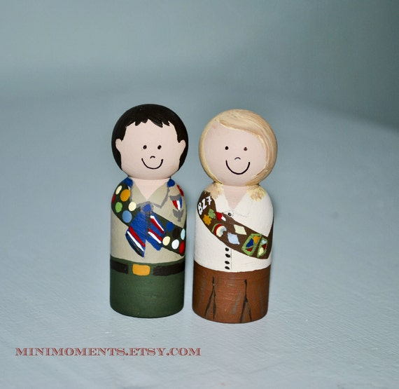 Items similar to custom eagle scout or brownie girl scout for Cub scout ornament craft